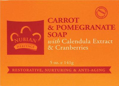 Nubian Heritage Carrot & Pomegranate Bar Soap - 1 Case (72 Bars)