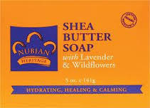Nubian Heritage Lavender & Wildflowers Bar Soap - 1 Case (72 Bars)