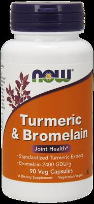 Turmeric & Bromelain-90 Veg Capsules