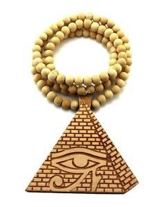 3rd Eye Pyramid Wooden Necklace