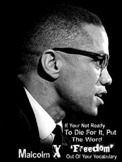 Malcolm X Freedom Quote T-Shirt