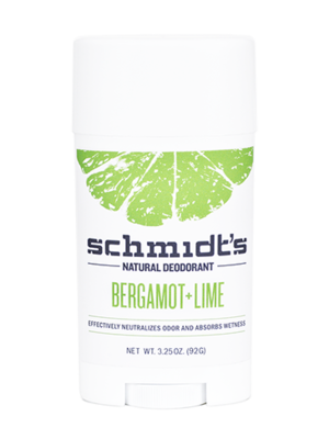 Schmidt's Bergamot + Lime Natural Deodorant Stick 3.25 oz