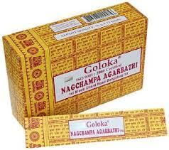 Goloka Nagchampa Agarbathi Box 15 Grams (180 Sticks)