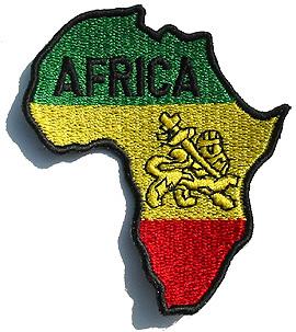 Large Ethiopia Lion of Judah Map of Afrika Patch