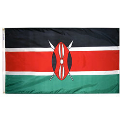 Kenya Flag 3' x 5' Foot Flag
