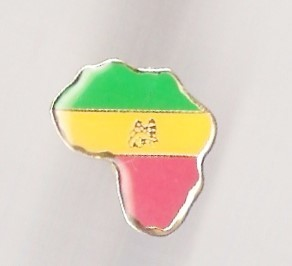 Afrika Lion of Judah (Green, Gold, and Red) Small Pin