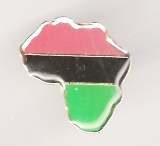 Red, Black, and Green (RBG) Afrika Pin​