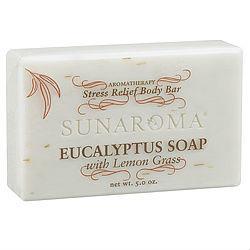 Sunaroma-Eucalyptus With Lemongrass 5oz Bar Soap