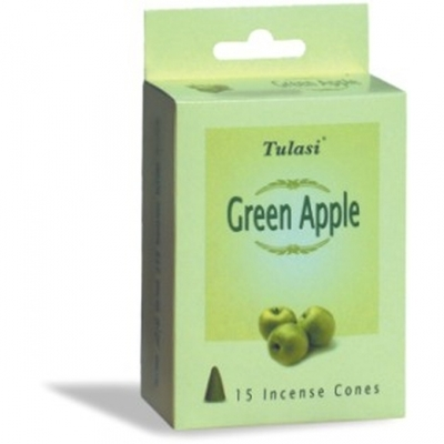 Tulasi Green Apple 15 Incense Cones (per pack)