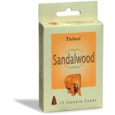 Tulasi Sandalwood 15 Incense Cones (per pack)