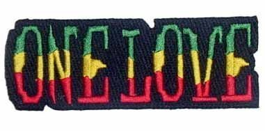 One Love Iron on Patch