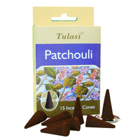 Tulasi Patchouli 15 Incense Cones (per pack)