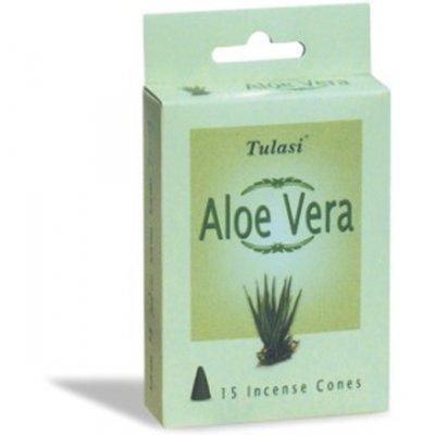 Tulasi Aloe Vera 15 Incense Cones (per pack)