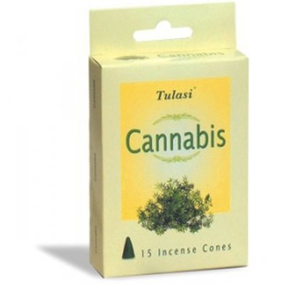 Tulasi Cannabis 15 Incense Cones (per pack)
