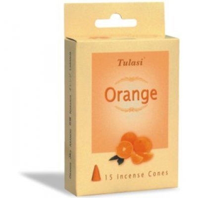 Tulasi Orange 15 Incense Cones (per pack)