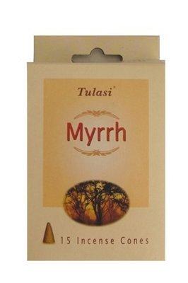 Tulasi Myrrh 15 Incense Cones (per pack)