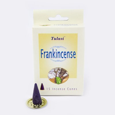 Tulasi Frankincense 15 Incense Cones (per pack)