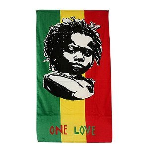 Rasta Baby Beach Towel