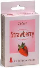 Tulasi Strawberry 15 Incense Cones (per pack)