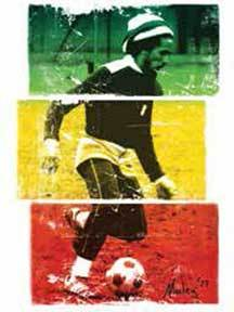 Bob Marley Rasta Soccer Sticker