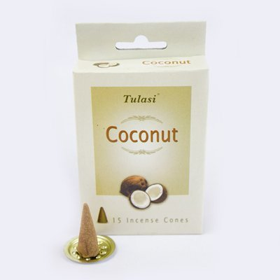 Tulasi Coconut 15 Incense Cones (per pack)