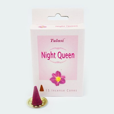 Tulasi Night Queen 15 Incense Cones (per pack)