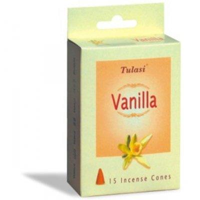 Tulasi Vanilla 15 Incense Cones (per pack)