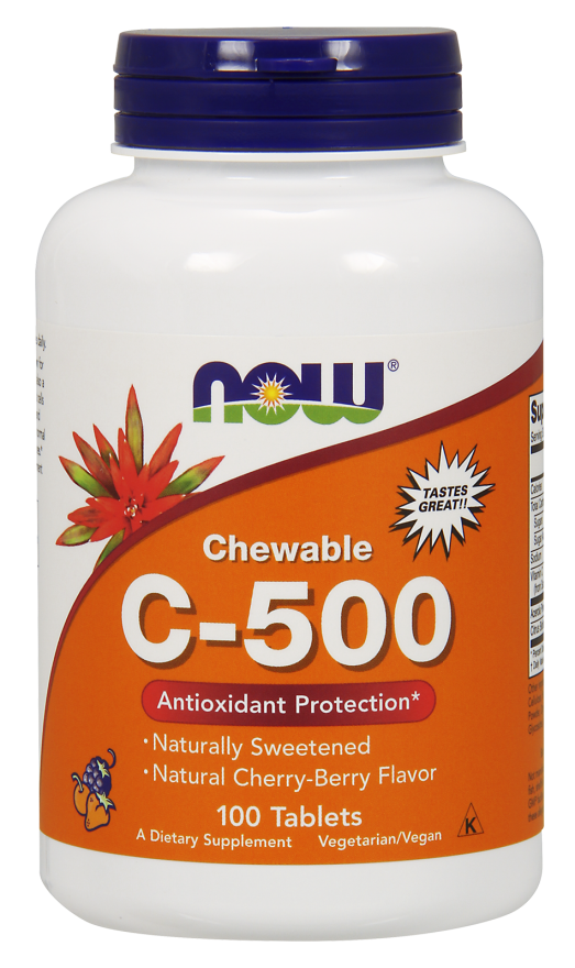 Vitamin C-500 Cherry Chewable Lozenges Antioxidant Protection* 100tab
