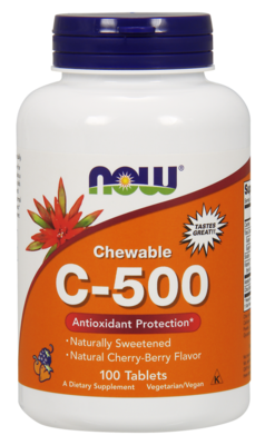 Vitamin C-500 Cherry Chewable Lozenges Antioxidant Protection* 100tab