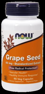 Grape Seed 60 mg Veg Capsules Free Radical Protection*