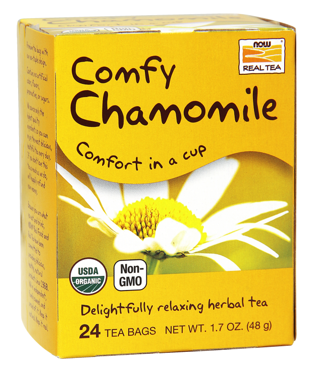 Comfy Chamomile Tea, Organic Delightfully Relaxing Herbal Tea 1.7oz