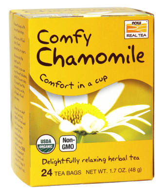 Comfy Chamomile Tea, Organic Delightfully Relaxing Herbal Tea 1.7oz