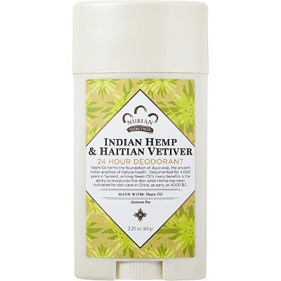 Nubian Heritage Indian Hemp and Haitian Deodorant 2.25oz