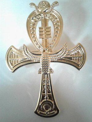 Gold Plated Ankh Broach