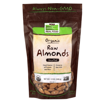 Almonds, Organic & Raw 12oz