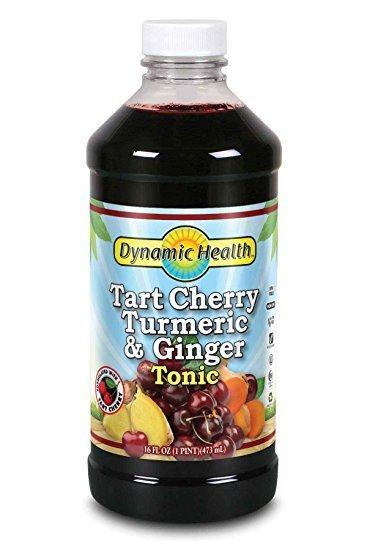 Dynamic Health Organic Tart Cherry, Turmeric & Ginger Tonic-16 fl oz Liquid Glass bottles
