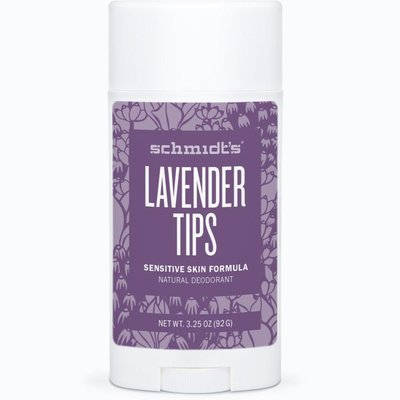 Schmidt's SENSITIVE SKIN DEODORANT STICK LAVENDER TIPS TRANQUIL + SOOTHING 3.5OZ