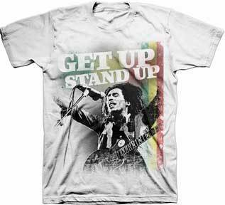 Bob Marley Get Up Stand Up Mens T-Shirt