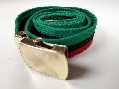 Canvas RBG Belt w/ Gold Buckle