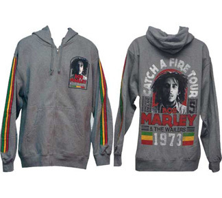 Bob Marley Catch a Fire Hoody