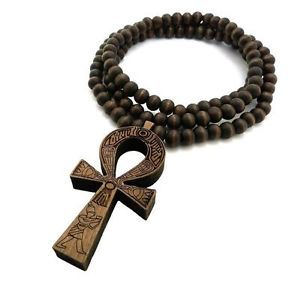 Ankh Wooden Necklace