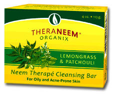 TheraNeem® Naturals Cleansing Bar Lemongrass and Patchouli  4 oz
