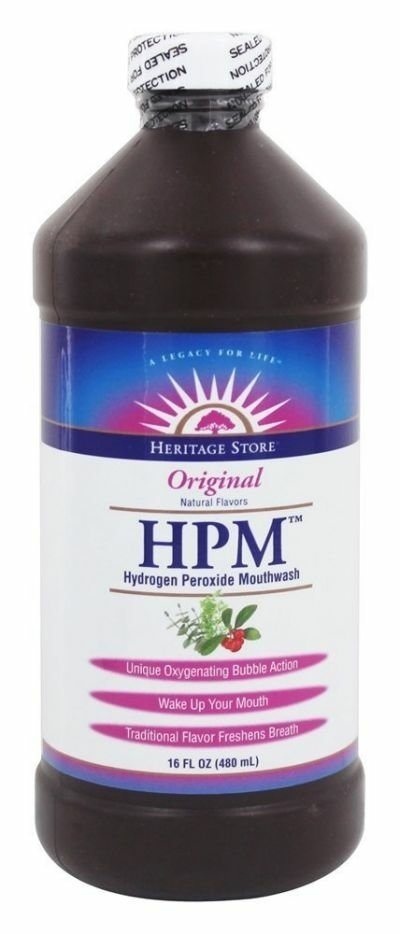 Heritage Store HPM Hydrogen Peroxide Mouthwash