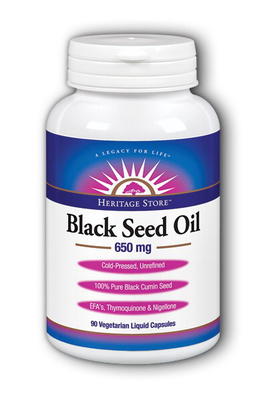 Heritage Store Black Seed Oil Capsules 650mg