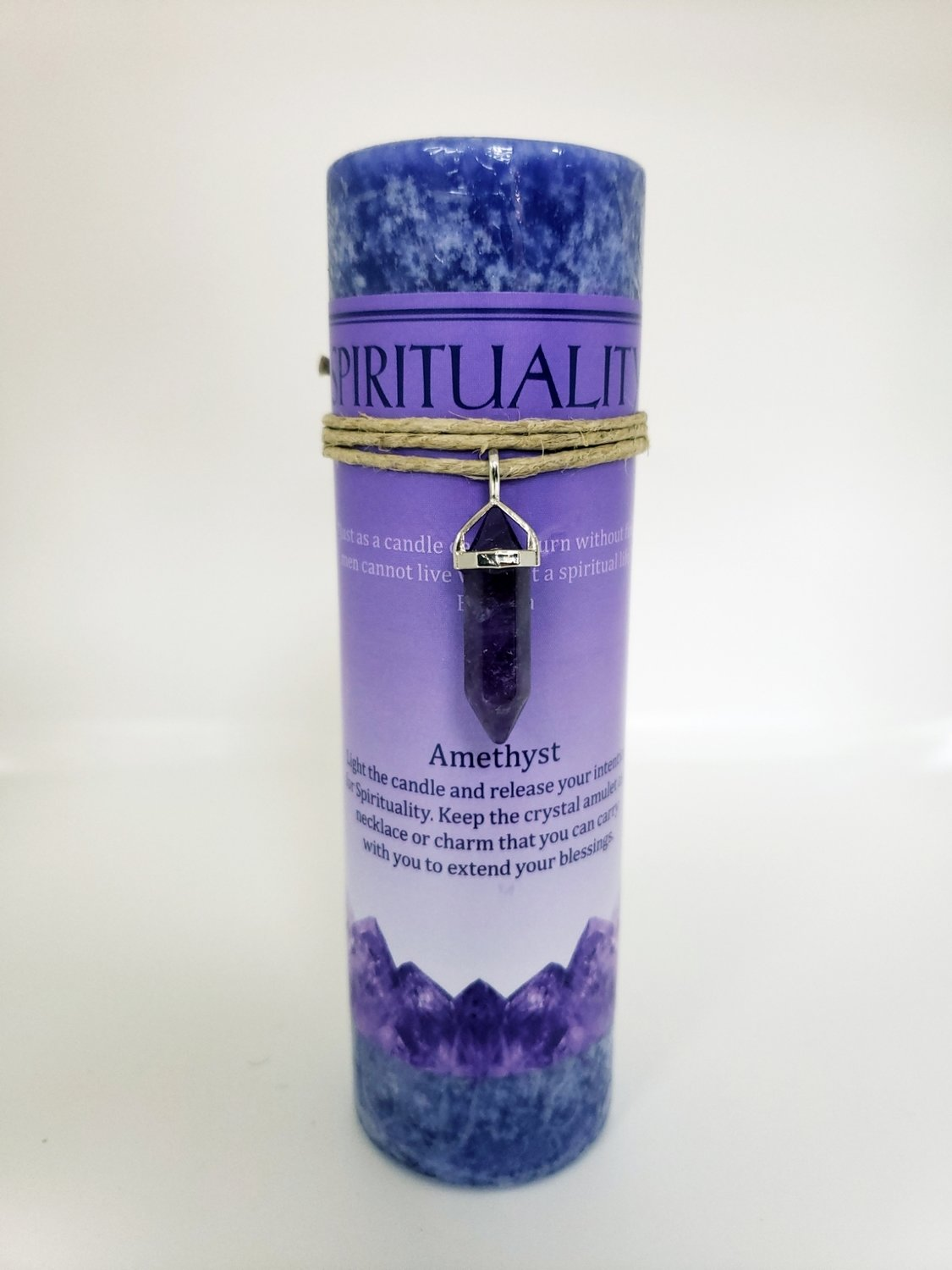 Spirituality Candle with Amethyst Pendant