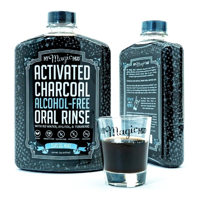 My Magic Mud Activated Charcoal Oral Rinse - Classic Mint (Mouthwash)