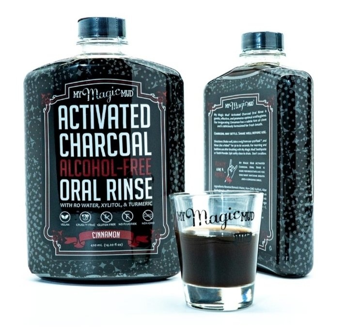 My Magic Mud Activated Charcoal Oral Rinse - Cinnamon
