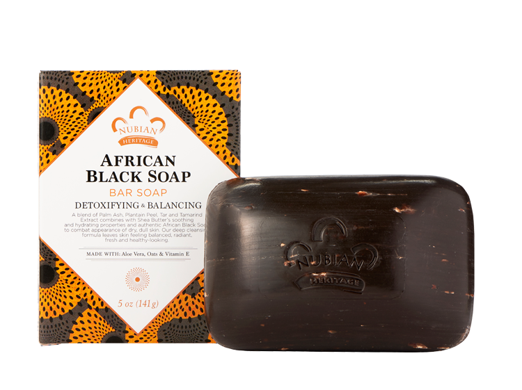 Nubian Heritage-African Black Soap Bar Soap - 6 pack