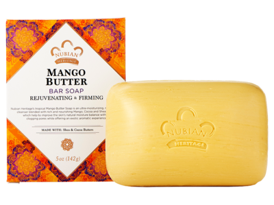 Nubian Heritage Mango Butter Soap Bar - 6 pack