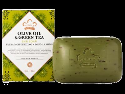 Nubian Heritage Olive & Green Tea Bar Soap  - 6 Pack